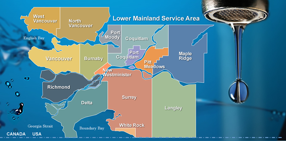 Map of the lower mainland
